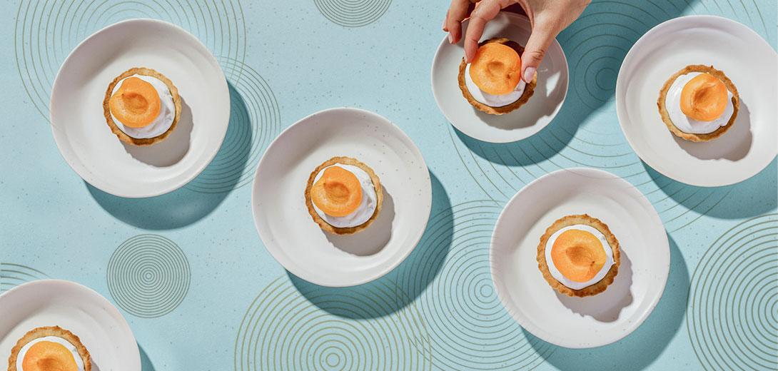 apricot pastries pattern