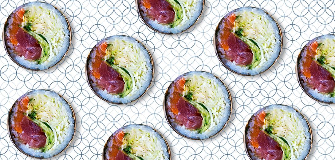 sashimi dishes pattern