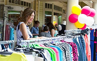 Shopping Sidewalk Sale